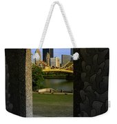 Pittsburgh Skyline, North Shore Arch, Pittsburgh, Pa  Weekender Tote Bag