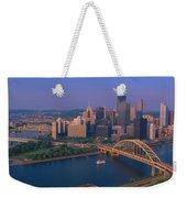 Pittsburgh,pennsylvania Skyline Weekender Tote Bag