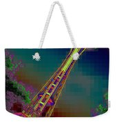 Pixel Needle Weekender Tote Bag