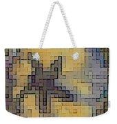 Pixel Pansy Weekender Tote Bag