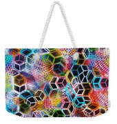 Pixelated Cubes Weekender Tote Bag