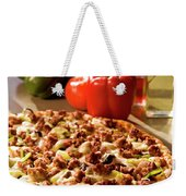 Pizza At Restaurant  Weekender Tote Bag