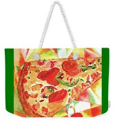 Pizza Pizza Weekender Tote Bag by Paula Ayers