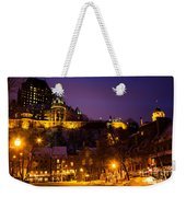 Place-royale At Twilight Quebec City Canada Weekender Tote Bag