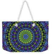 Plaid Wheel Mandala Weekender Tote Bag
