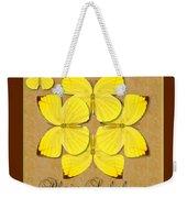 Plain Sulphur Butterfly Wheel Weekender Tote Bag