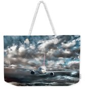 Plane In Storm Weekender Tote Bag