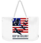Planes -- Keep 'em Rolling Weekender Tote Bag