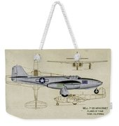 Planes Of Fame A-59 Airacomet - Profile Weekender Tote Bag