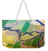 Planet Art Colorful  Midwest Aerial Weekender Tote Bag
