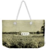 Plantation Church - Sepia Texture Weekender Tote Bag