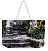 Plants Grow In The Uneven Stairs Climbing Towards The Tower Weekender Tote Bag