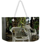 Plastic Chairs Weekender Tote Bag