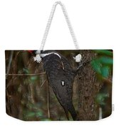 Plastic Wrapped Pileated Woodpecker Weekender Tote Bag