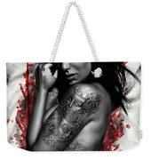 Plata O Plomo Weekender Tote Bag by Pete Tapang