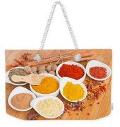 Plates Of Spices  Weekender Tote Bag
