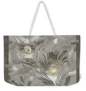 Platinum Feathers, Peacock Feathers Home Fashion Weekender Tote Bag