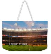 Play Ball Quote Weekender Tote Bag