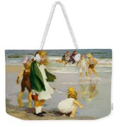 Play In The Surf Weekender Tote Bag by Edward Henry Potthast