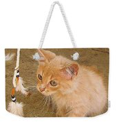 Play Time With Kitty Weekender Tote Bag