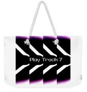 Play Track 7 Weekender Tote Bag
