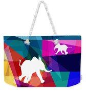 Playful Baby Elephant Weekender Tote Bag