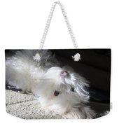 Playful Puppy Weekender Tote Bag