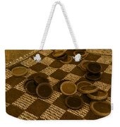 Playing Checkers On A Rug Weekender Tote Bag