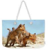 Playing Fox Kits Weekender Tote Bag