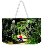 Playing In The Garden Five Weekender Tote Bag