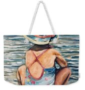 Playing In The Waves Weekender Tote Bag