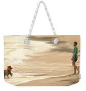 Playing On A Beach Weekender Tote Bag