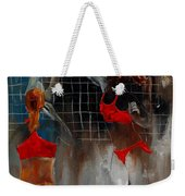 Playing Volley Weekender Tote Bag