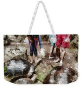 Playing With Giant Tortoises Weekender Tote Bag