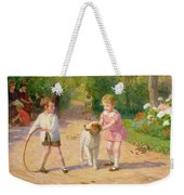 Playing With The Hoop Weekender Tote Bag by Victor Gabriel Gilbert