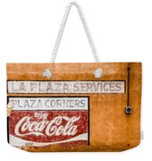 Plaza Corner Coca Cola Sign Weekender Tote Bag
