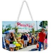 Plaza Pizza Weekender Tote Bag