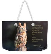 Pleasing In Your Sight - Psalm 19 Weekender Tote Bag