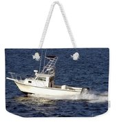 Pleasure Fishing Boat Weekender Tote Bag
