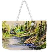 Plein Air At Nutimik Lake In Manitoba Weekender Tote Bag