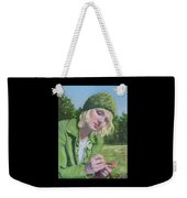 Plein Air Crocheting Weekender Tote Bag