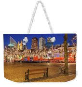 Plein Square At Night - The Hague Weekender Tote Bag