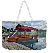 Pletna Boats Of Lake Bled Weekender Tote Bag