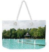Plovdiv Singing Fountains - Bright Aquamarine Water Dancing Jets And Music Weekender Tote Bag