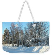 Plowed Winter Street In Sunlight Weekender Tote Bag