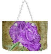 Plum Passion Rose Weekender Tote Bag