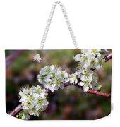 Plum Tree Blossoms Weekender Tote Bag