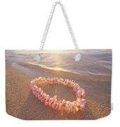 Plumeria Lei Shoreline Weekender Tote Bag