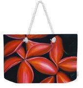 Plumeria Rouge Weekender Tote Bag