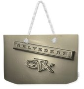Plymouth Belvedere Gtx Fender Emblem Badge Weekender Tote Bag